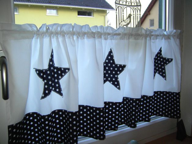 Fabulous Gardine Scheibengardine Sterne