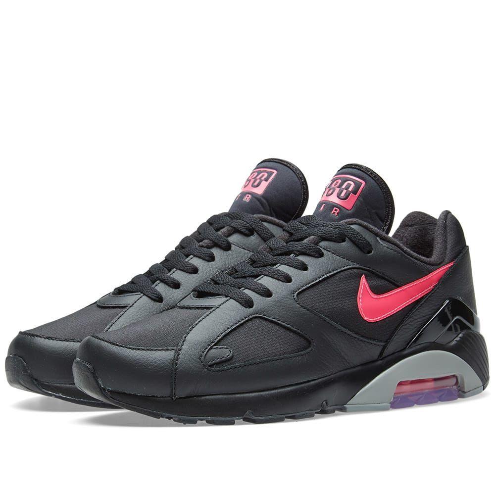 best cheap f8eb6 325e1 Nike Air Max 180 Black, Pink Blast   Grey 1