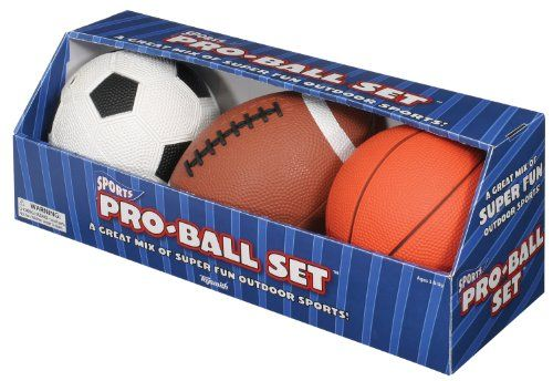 The Toysmith Pro Ball Set Has Something For The Little Sports Fan In Every Family These Soft Sports Balls Football Ball Football And Basketball Football Kids