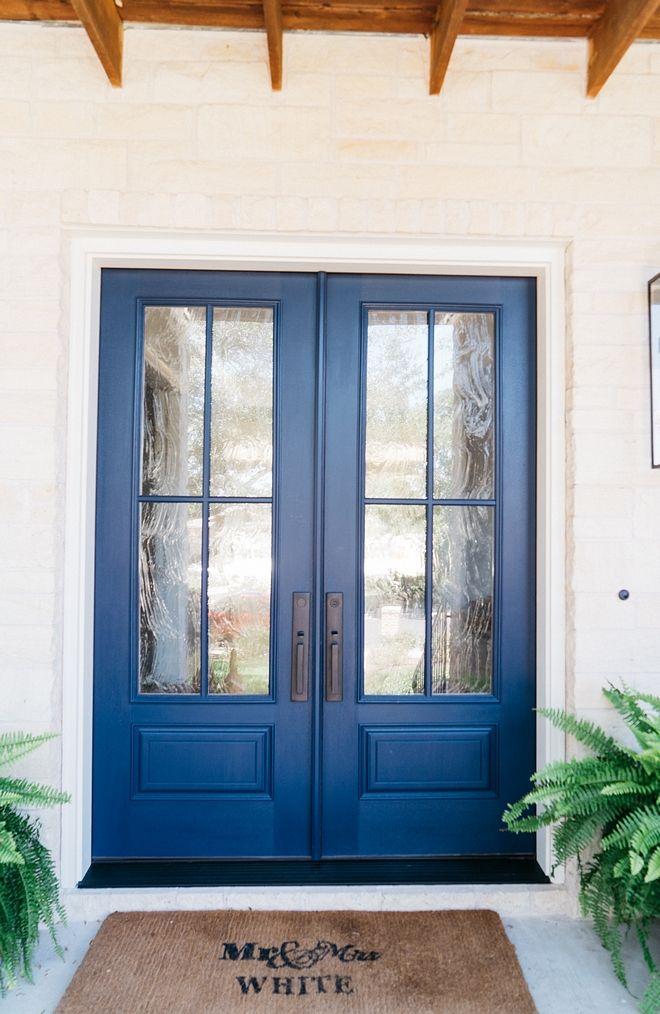 The Front Door Is Painted In Benjamin Moore Hale Navy