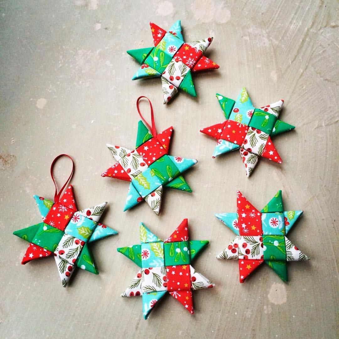 Scandinavian Fabric Stars Via Fabric Hq Fabrichq Instagram Christmas Fabric Christmas Crafts Fabric Stars
