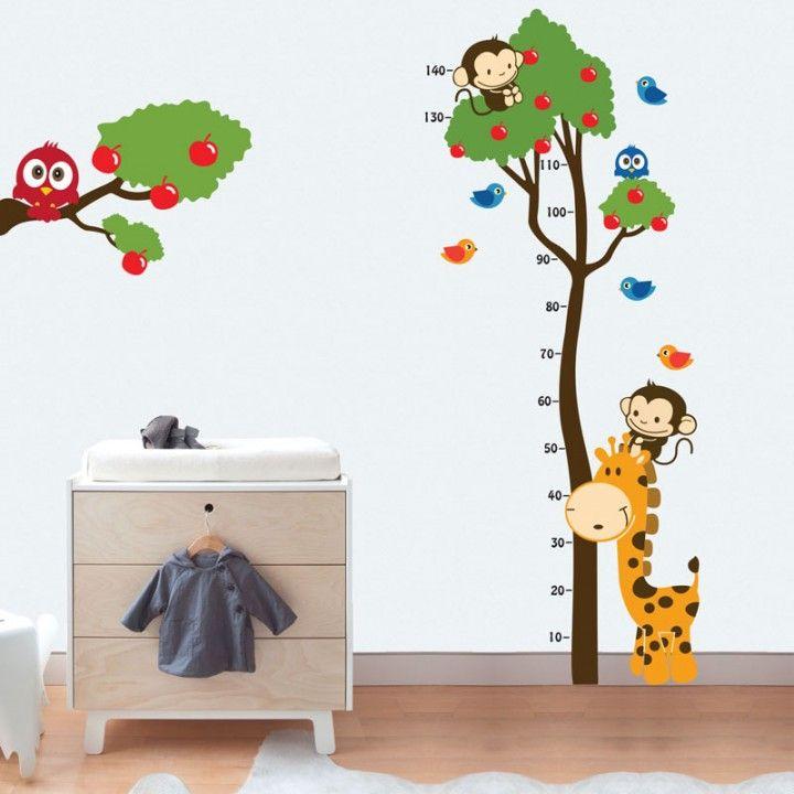 Adesivo de Parede Infantil Régua Medidora Quarto Beb u00ea