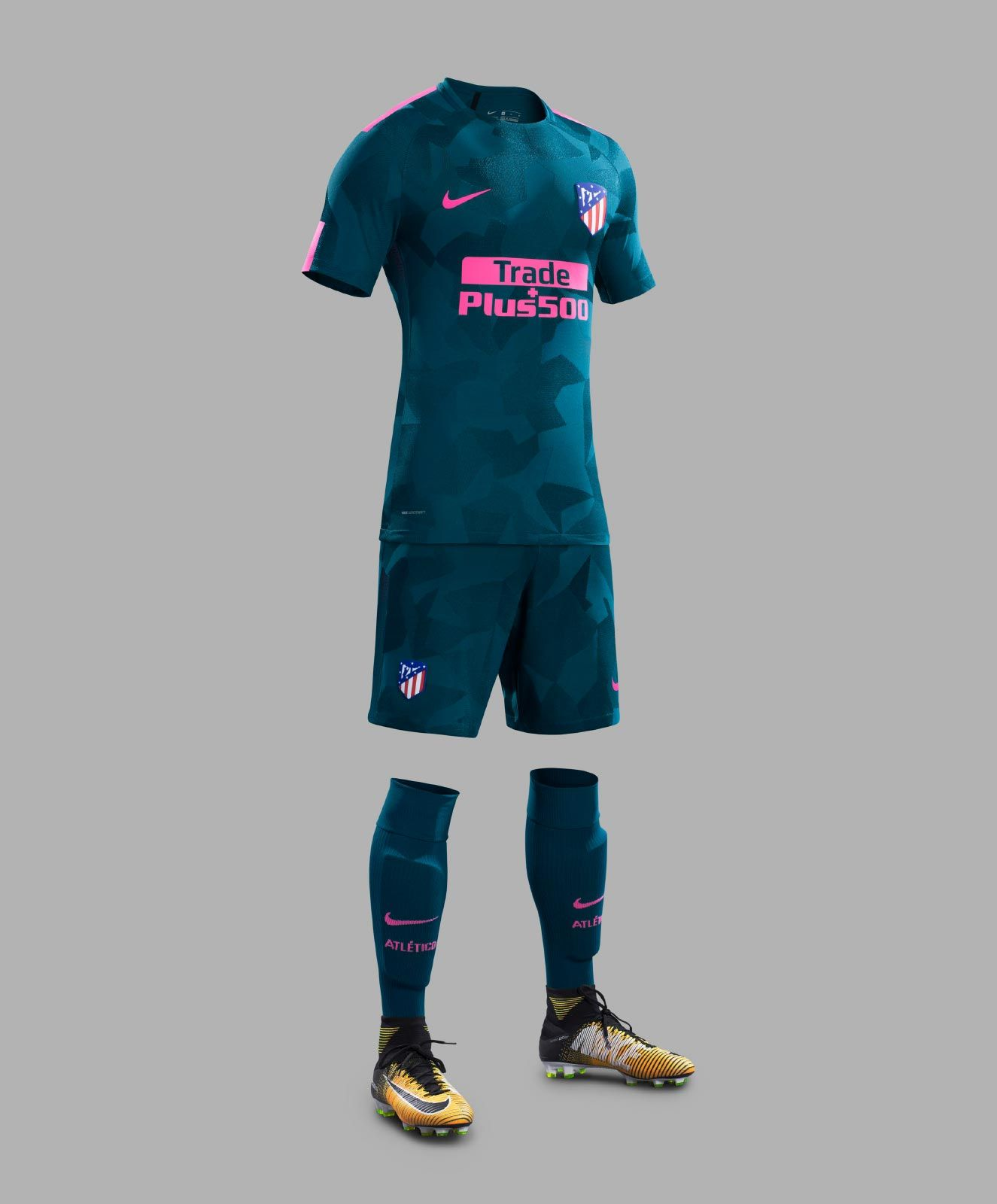The first-ever Nike Atlético Madrid third jersey introduces a bold look in   Space Blue  and  Laser Pink . 0db96477e2822