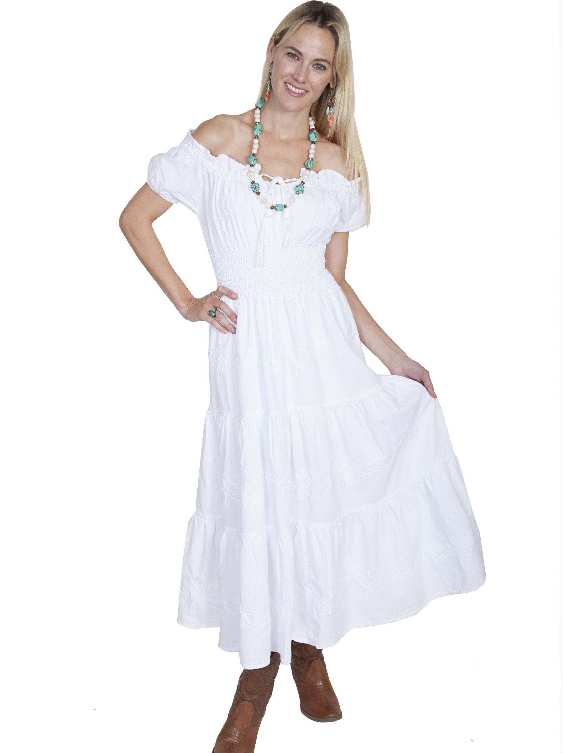 Cowgirl Western Style Wedding Dresses Prairie Boho Victorian Vintage Scully Leather: Off White Western Wedding Dresses At Websimilar.org