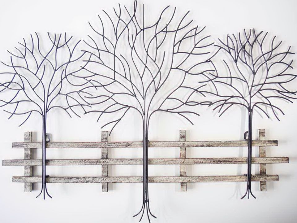 Superbe Metal Tree Wall Art Decor | Home Design Ideas