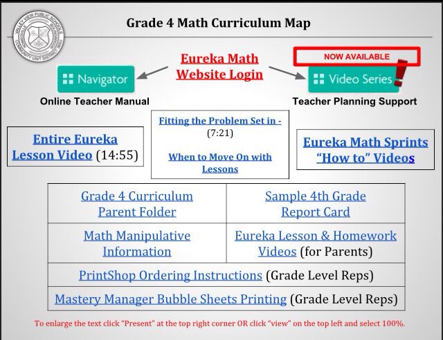 Check out this 4th Grade Eureka Math curriculum map! Tons of
