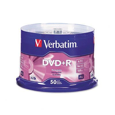 Verbatim Spindle Dvd+R Discs, 4.7Gb, 16X, 50/Pack
