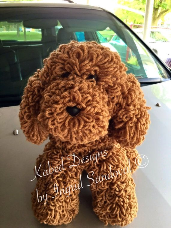 Knitted Labradoodle Puppy
