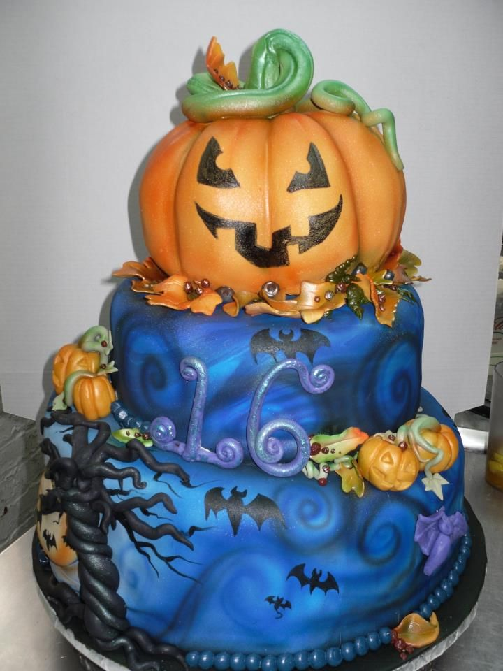 Scary Good Halloween Birthday Cake By Amazing Cake Artist Karen