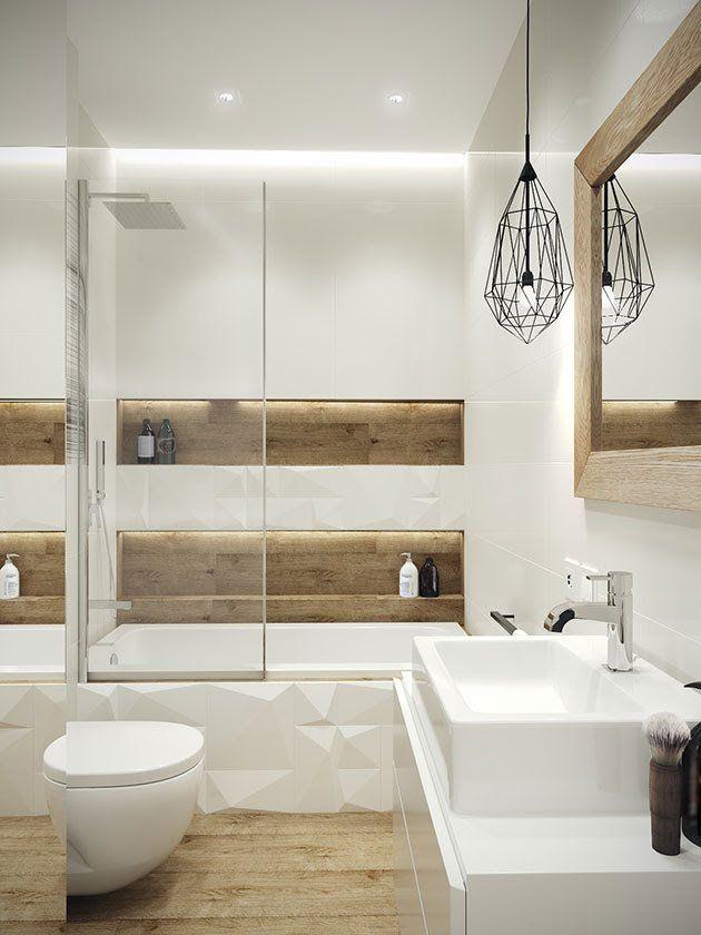 60 Baños blancos modernos: Grandes, pequeños y en madera | Mil Ideas ...