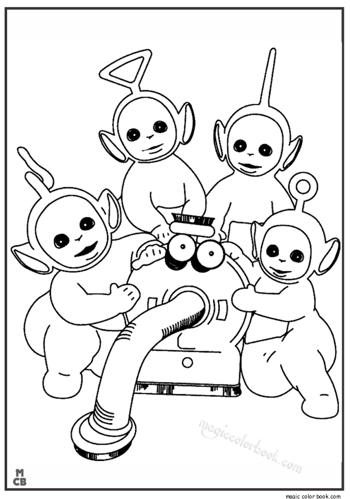 Teletubbies coloring pages free | mewarnai | Pinterest | Free and Craft