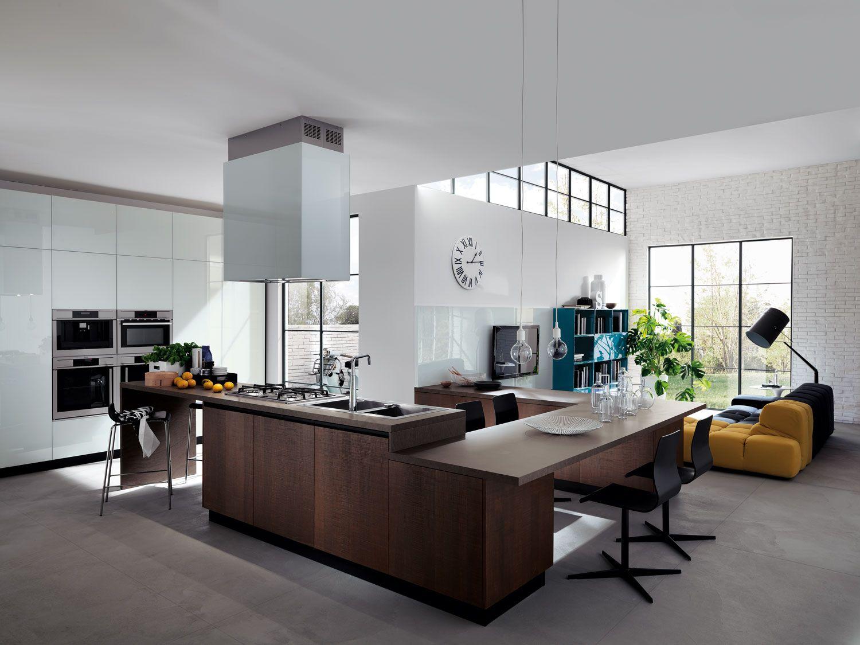 Cucina e soggiorno: un unico ambiente | Pinterest | Kitchens and ...