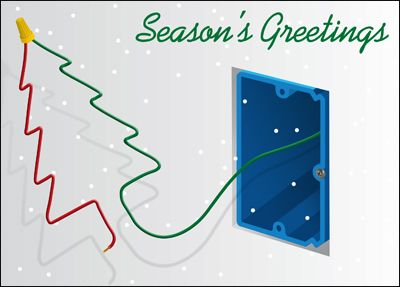 Customize Electrical Christmas Cards Online Ziti Cards Seasonal