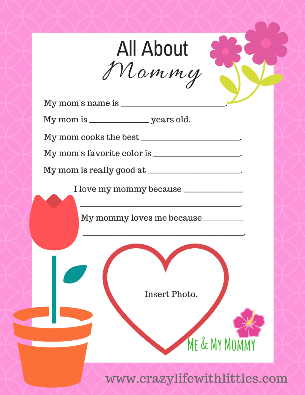 Free Mother S Day Printable From Toddlers