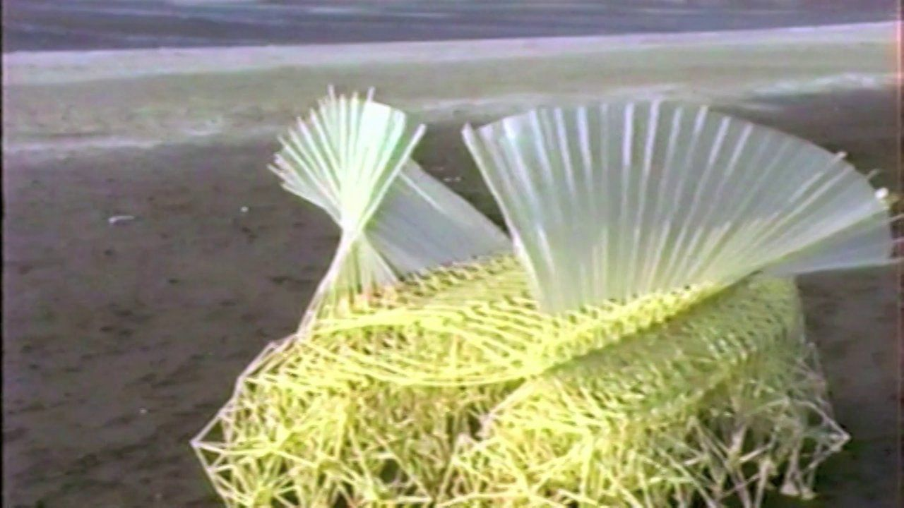 Arte Cinetico Theo Jansen New Forms Of Life By Theo Jansen Plastic Yellow Tubes Are Used As