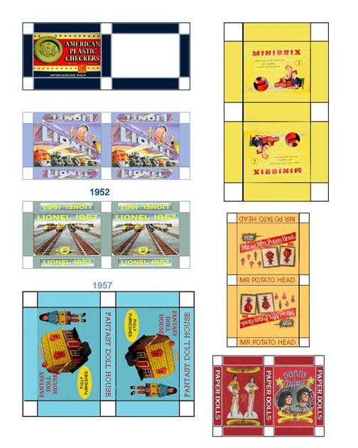 dollhouse printable games fullpage post1950 2 barbie kids playroom rh pinterest cl Dollhouse Miniature Medical Printables Dollhouse TV Printables