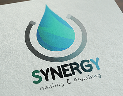 Synergy Heating And Plumbing Logo Termos Logos Heating