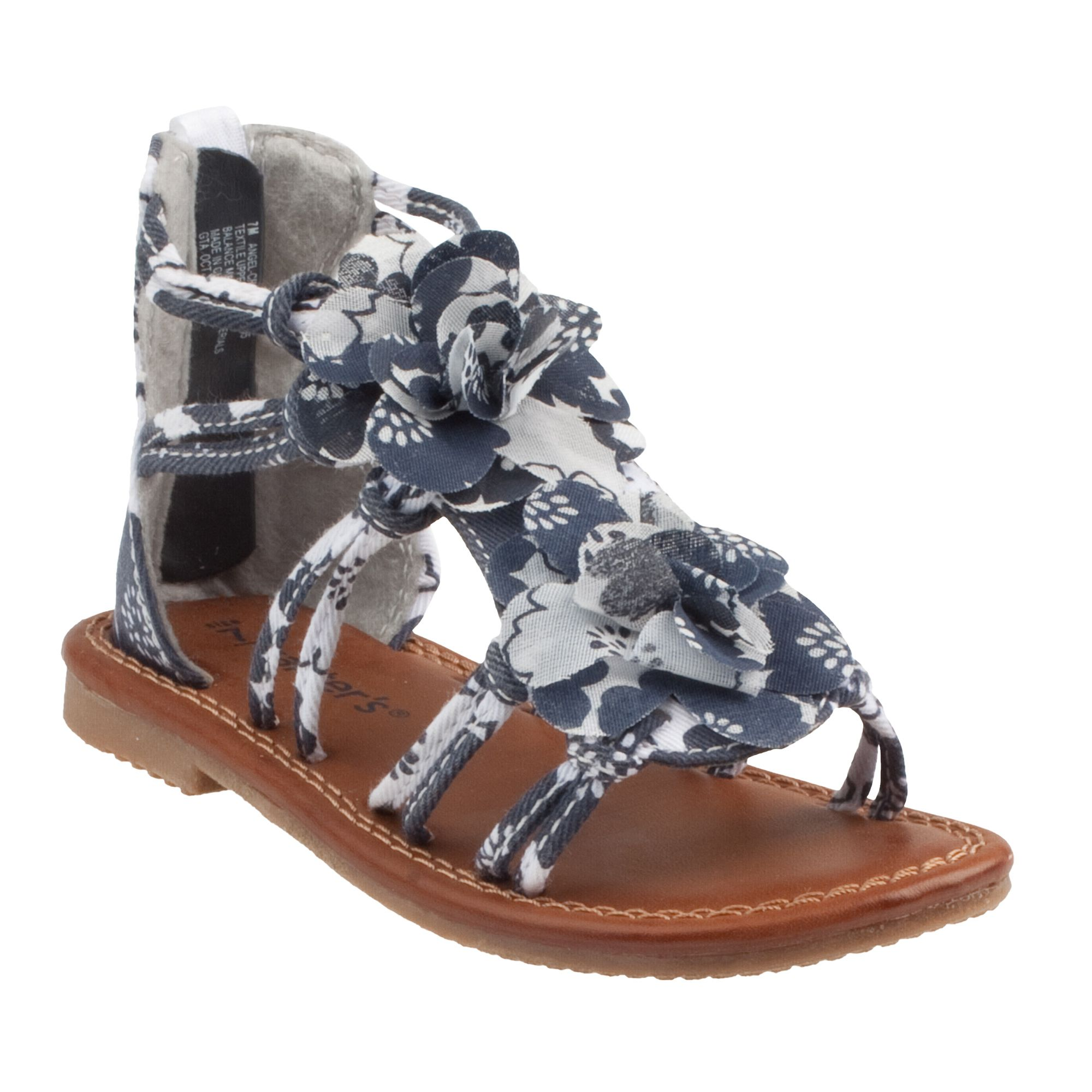 Floral Print Gladiator Sandals Baby Girl Shoes Stuff