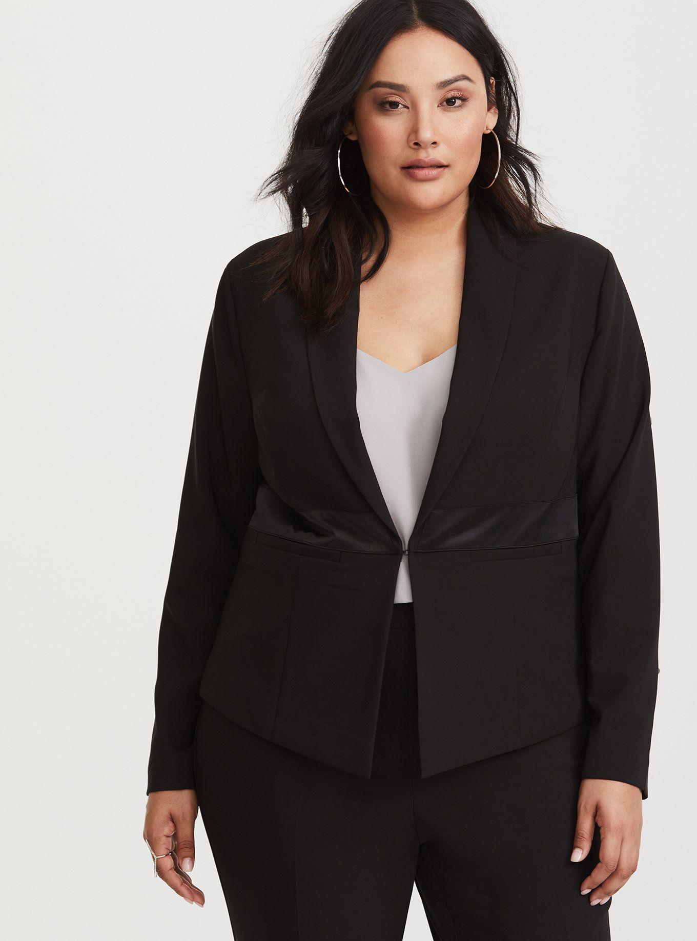 Special Occasion Black Tuxedo Blazer Womens black blazer