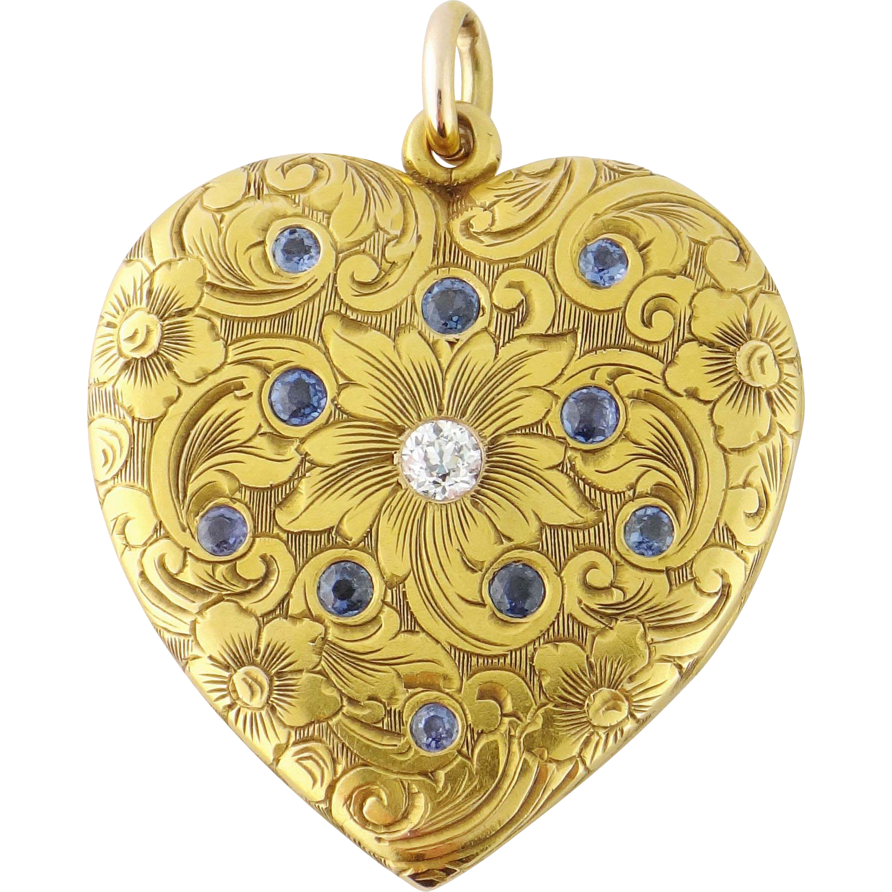 sapphire lockets locket crop blanche heart gold lily