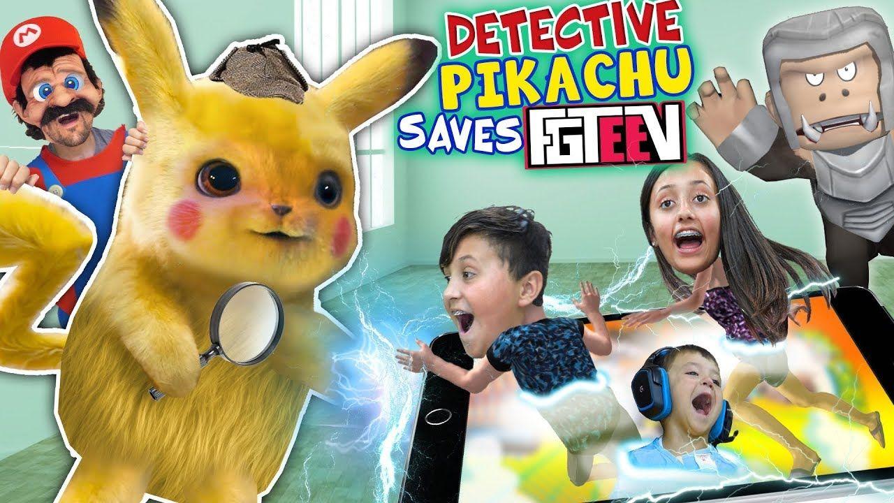 Detective Pikachu Saves Fgteev Ape Chase Gameplay Skit