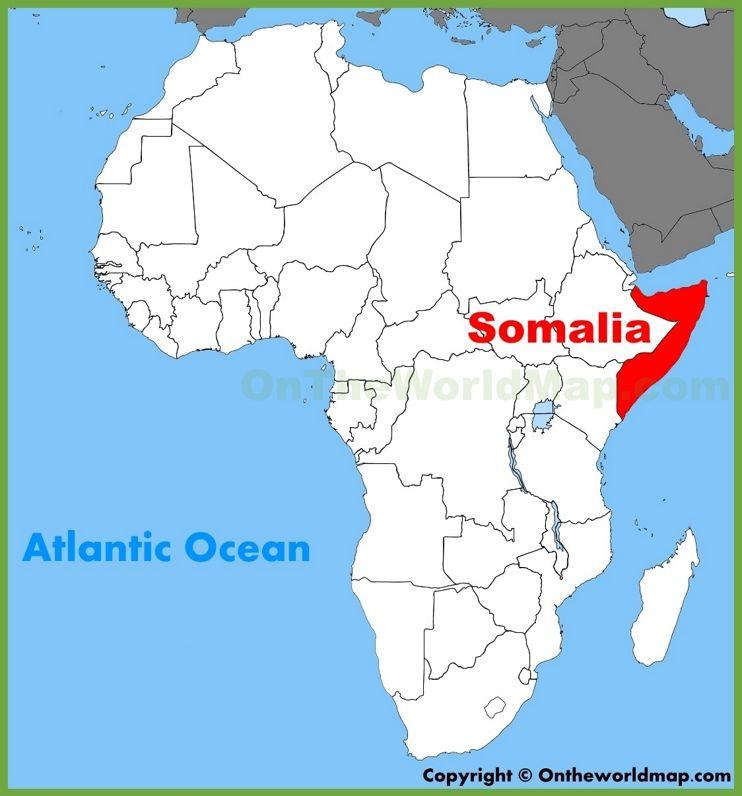somalia on a map of africa Somalia Location On The Africa Map Africa Map African Map Map
