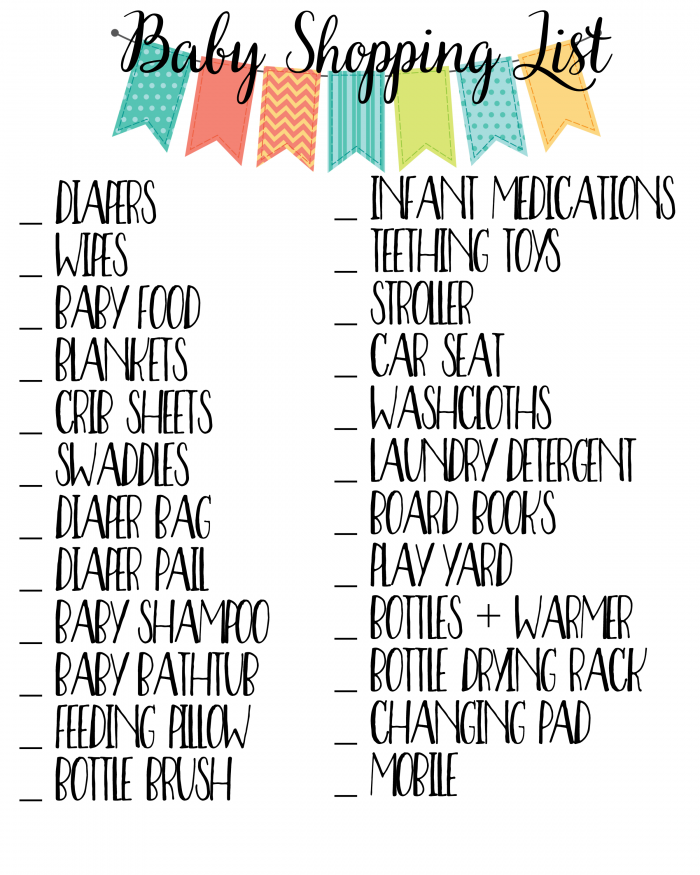 Baby Essentials Checklist  Babies Baby Essentials And Parenting