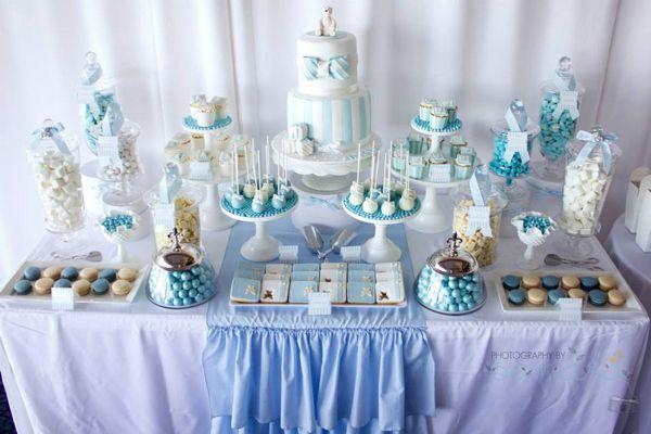 Blue Christening First Birthday Party Planning Ideas