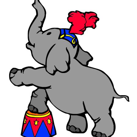 Coloriage el phant de cirque a imprimer dessin colorier et dessin non colorier pinterest - Dessins d elephants ...