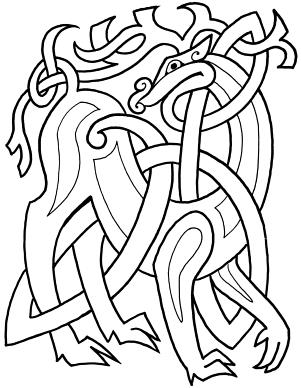 Celtic Animals Coloring Book Celtic Animals Celtic Designs Celtic Patterns