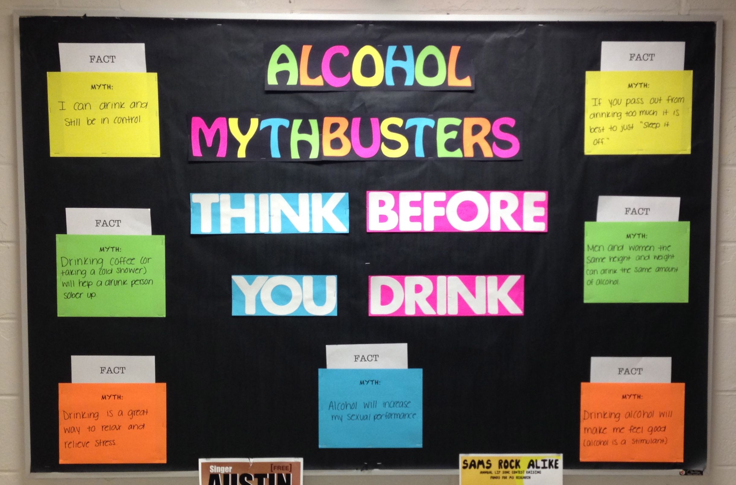 Quot Alcohol Mythbusters Quot Bulletin Board For October Ra