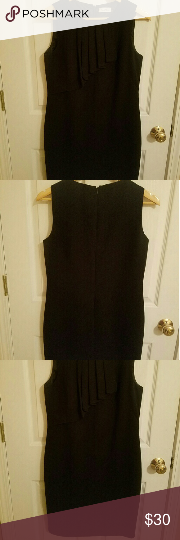 Classic style Calvin Klein sheath dress. Sz 4 Classic, professional, gorgeous style. Wear with belt or without. Calvin Klein Dresses Midi
