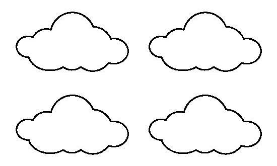 Small cloud pattern. Use the printable outline for crafts ...
