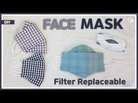 Photo of DIY/ 3D FACE MASK REPLACEABLE FILTER/ MAKE A MASK / FREE PATTERN/ 마스크 필터 교체용 마스크 만들기/ 패턴공유