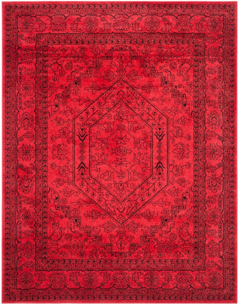 Adirondack Red 8 Ft X 10 Ft Indoor Traditional Rectangular Area Rug Square Area Rugs Black Area Rugs Red Rugs