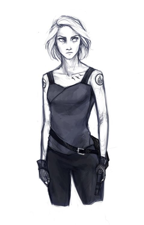 tris from divergent i like this one because it shows her other