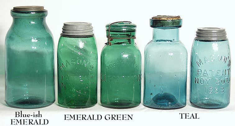 Shades Of Blue Canning Jars Antique Fruit Jar Green Mason Jars