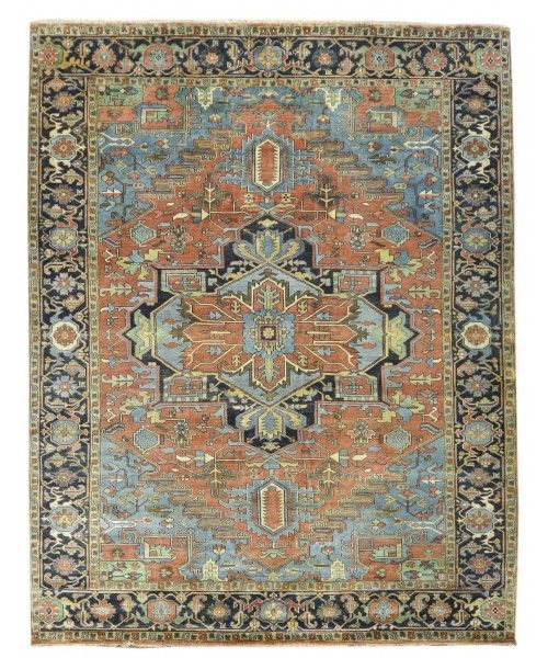 Persian Heriz Design Wool Rugs Made In India Z3087 2492 Size