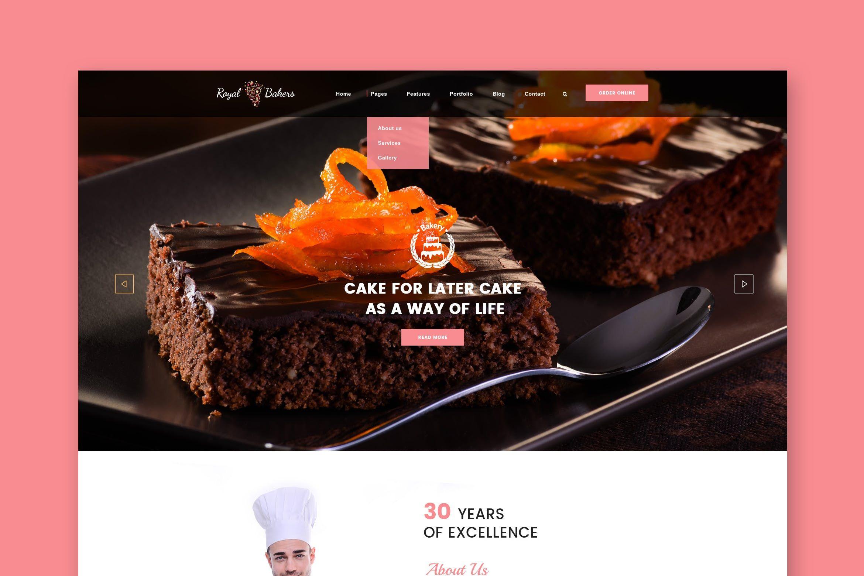 Royal Bakery Cakery Bakery Html Template By Wpmines On Envato Elements Bakery Website Html Templates Bakery