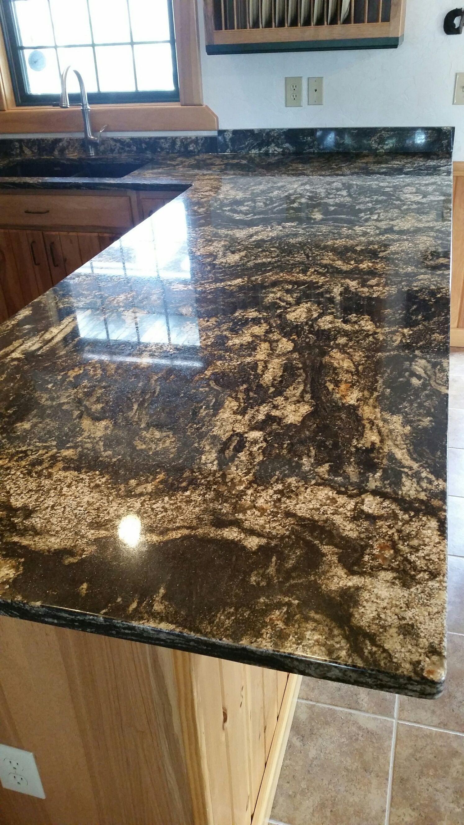 Kitchen Update Install Shots With Brisbane Gold Granite Granite Gold Movement Remodel Update Kitchen Updated Kitchen Kitchen Installation Granite