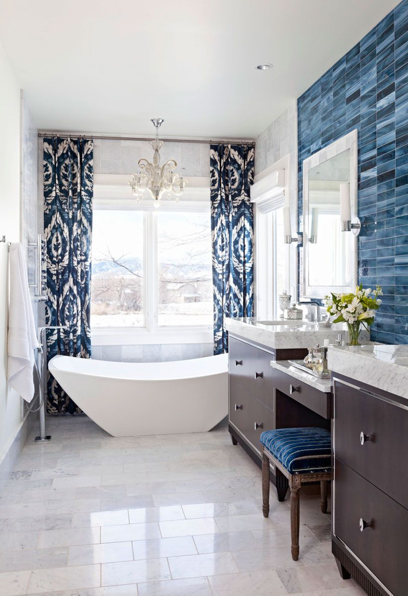 Decorating Ideas for Blue-and-White Bathrooms | Bathrooms ...