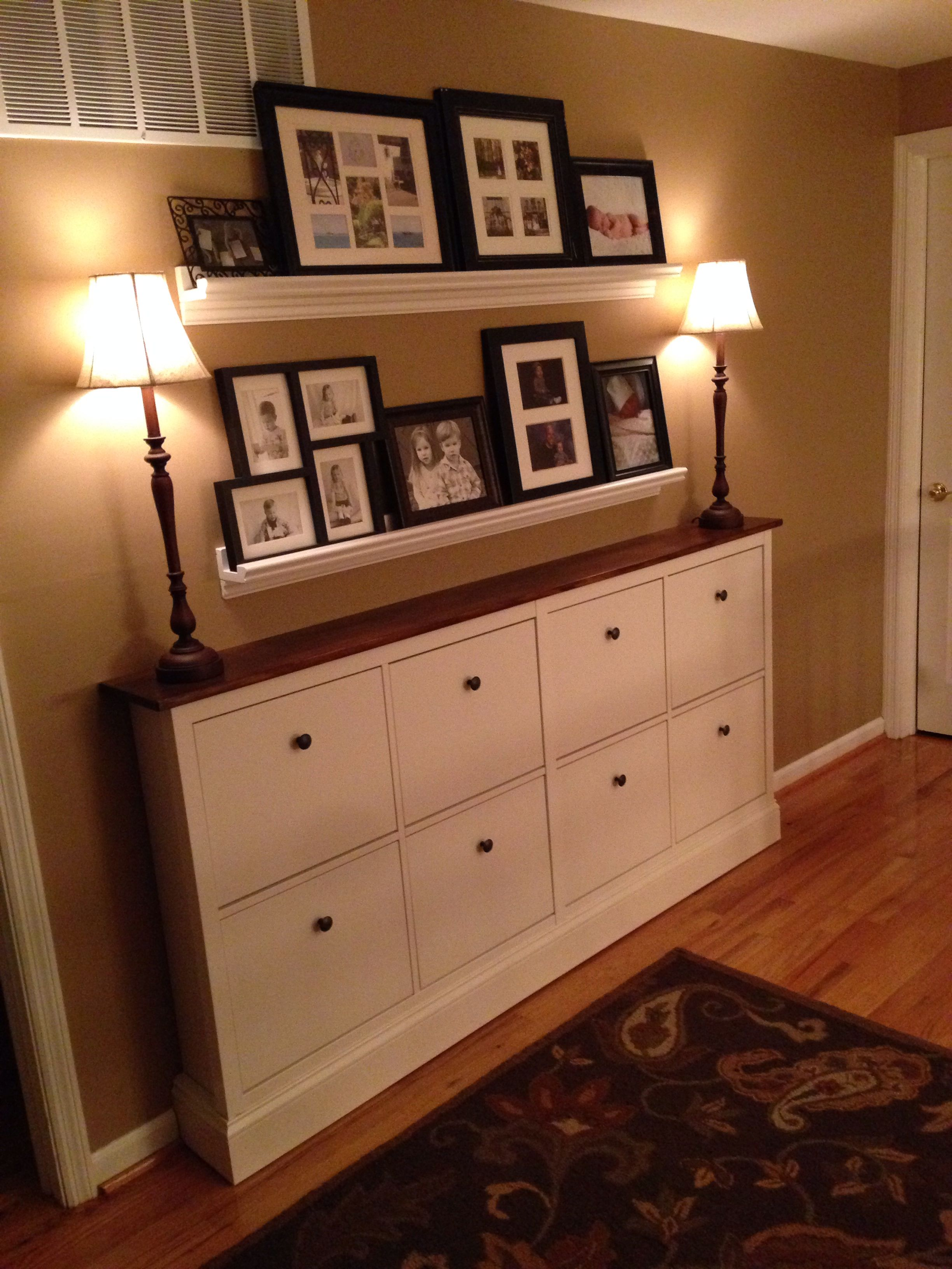 Ikea hack ikea hacked shoe cabinets built in shoe - Mueble tv hemnes ...