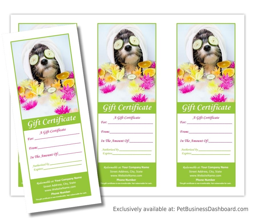 Pet grooming gift certificates and promo poster to increase gift pet grooming gift certificates and promo poster to increase gift certificate sales http yelopaper Gallery