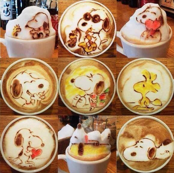 #Snoopy #latte art #latteart