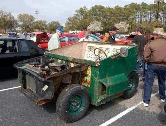 Garbage Truck With Images Rat Rod Retro Cars Weird Cars