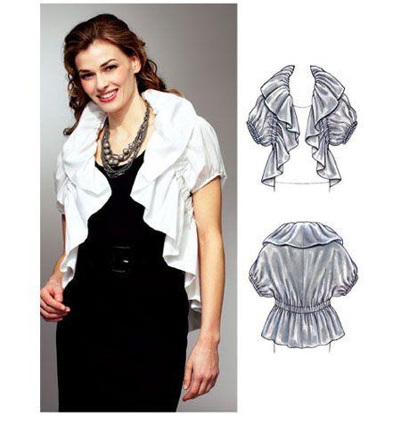 Ruffle Bolero Jacket Kwik-Sew K3781 | DIY: sewing, mostly skirts ...