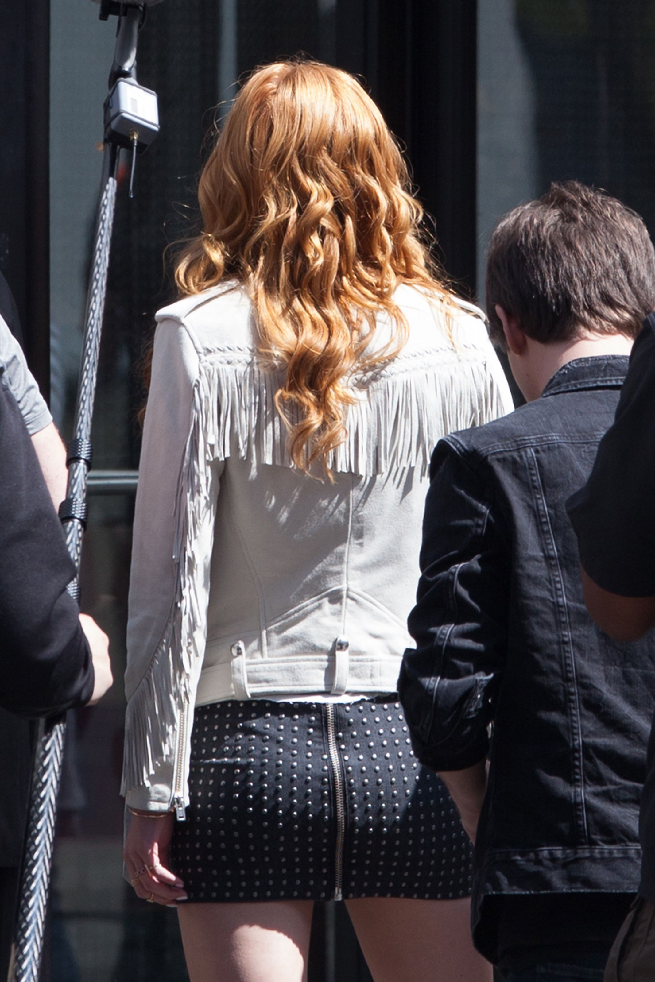 Bella Thorne  on the set of 'Alvin and the Chipmunks: Road Trip' in Georgia - 03/17/2015