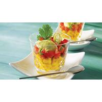 Sorbet à l'avocat et tartare de tomates | Recettes IGA | Entrée, Salade, Recette rapide