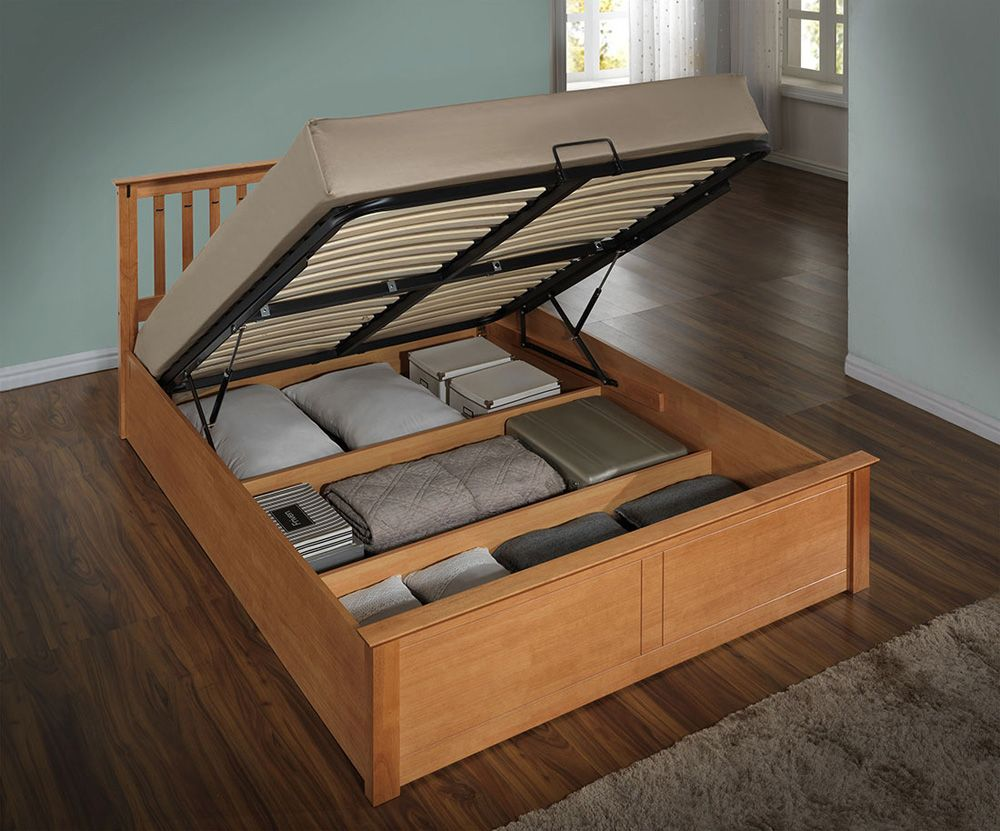 Harmony Beds Kensington 5FT Kingsize Wooden Ottoman Bed - also ...