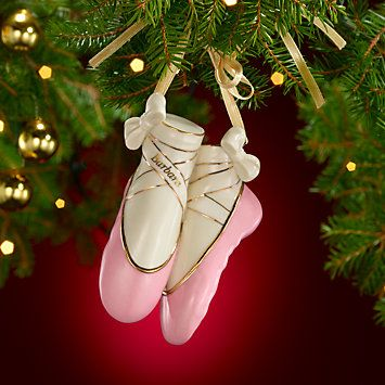 Personalized My Ballet Slippers Ornament by Lenox - Personalized My Ballet Slippers Ornament By Lenox Christmas - Home